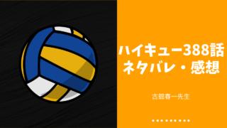 ハイキュー 388話 ネタバレ 感想 影山飛雄