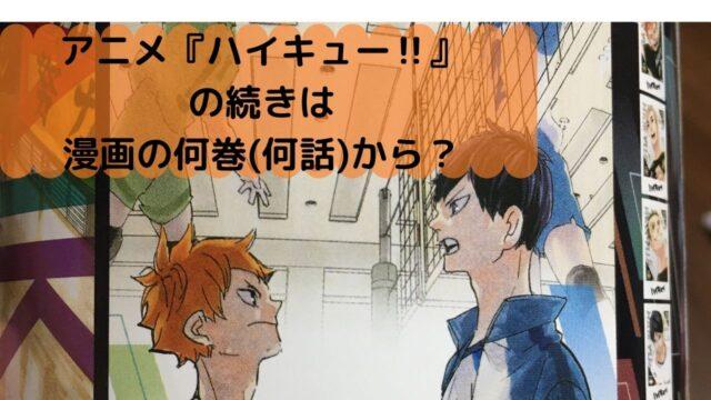 アニメ ハイキュー 続きは何話から?